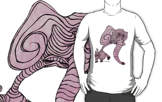 Pink Elephant by Hoffard