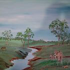 Cows by the River by Debra Lohrere