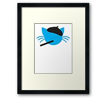 French cigarette smoking cat- Le CAT Framed Print