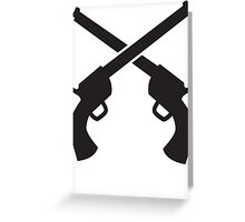 Gunslinger Guns crossed Greeting Card