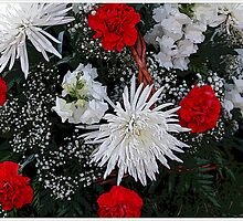Basket Of Holiday Flowers by Kathleen Struckle