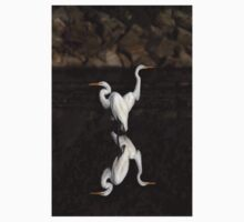 Reflective Moment - Great Egrets Kids Clothes