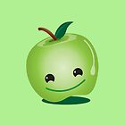 Apple green cutie funny face by jazzydevil