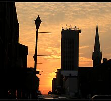 Downtown Sunset by LauraElizabeth