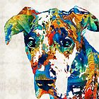 Colorful Great Dane Art Dog By Sharon Cummings by Sharon Cummings