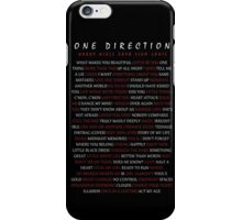 One Direction Song Titles iPhone Case/Skin