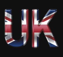 UK - British Flag - Metallic Text by graphix