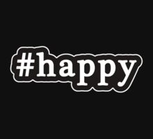 Happy - Hashtag - Black & White Kids Clothes