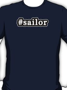 Sailor - Hashtag - Black & White T-Shirt