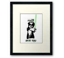 May the Force Be Shih Tzu Framed Print
