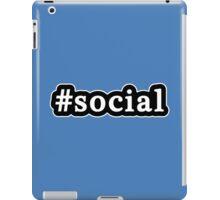 Social - Hashtag - Black & White iPad Case/Skin