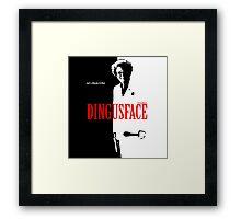 DINGUSFACE Dr. Steve Brule Design by SmashBam Framed Print