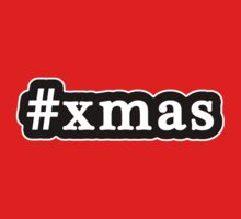 Xmas - Christmas - Hashtag - Black & White by graphix