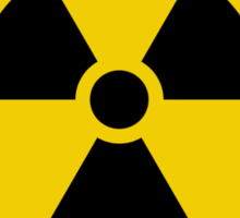 Radioactive Symbol Warning Sign - Radioactivity - Radiation - Yellow & Black - Rectangular Sticker