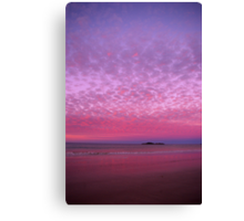 Fairy Floss Sunset Canvas Print