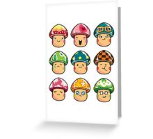 All The Mushrooms Greeting Card
