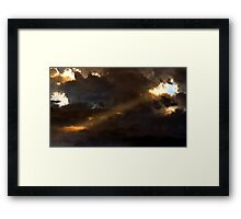 Heavenly Spotlight Framed Print