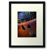 Town Circle's Night Framed Print