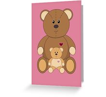 TWO TEDDY BEARS #3 Greeting Card