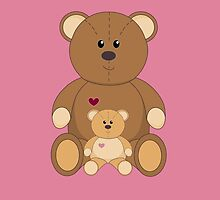TWO TEDDY BEARS #3 by Jean Gregory  Evans