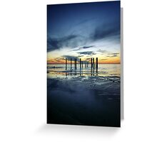 Twilight at Port Willunga Greeting Card