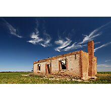 Ruined on Wimmera  Photographic Print