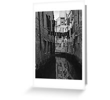 Back Street Canal - Venice  Greeting Card