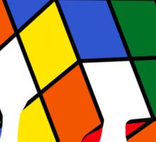 Melting Rubics Cube Sticker