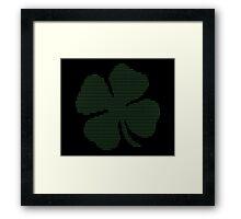 Ascii Art Shamrock Four Leaf Clover Framed Print