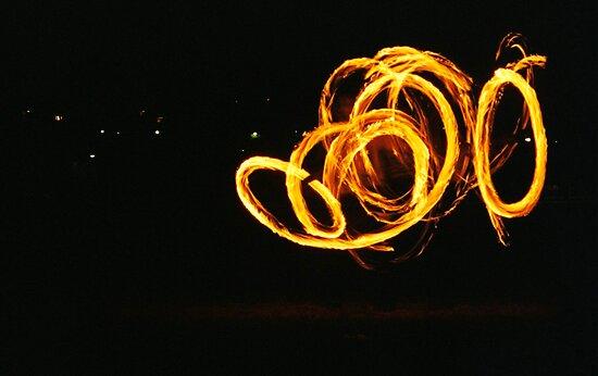 Fire twirler by fionapine