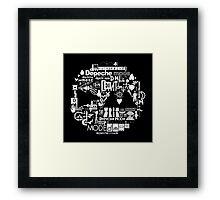 Depeche Mode : DM Logo 2013 - With old logo 2 - White Framed Print