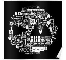 Depeche Mode : DM Logo 2013 - With old logo 2 - White Poster