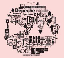 Depeche Mode : DM Logo 2013 - With old logo 2 - Black Kids Clothes