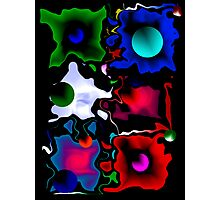 Abstract in Color Photographic Print