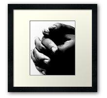 Nervousness Framed Print