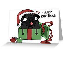 holiday Pug Greeting Card