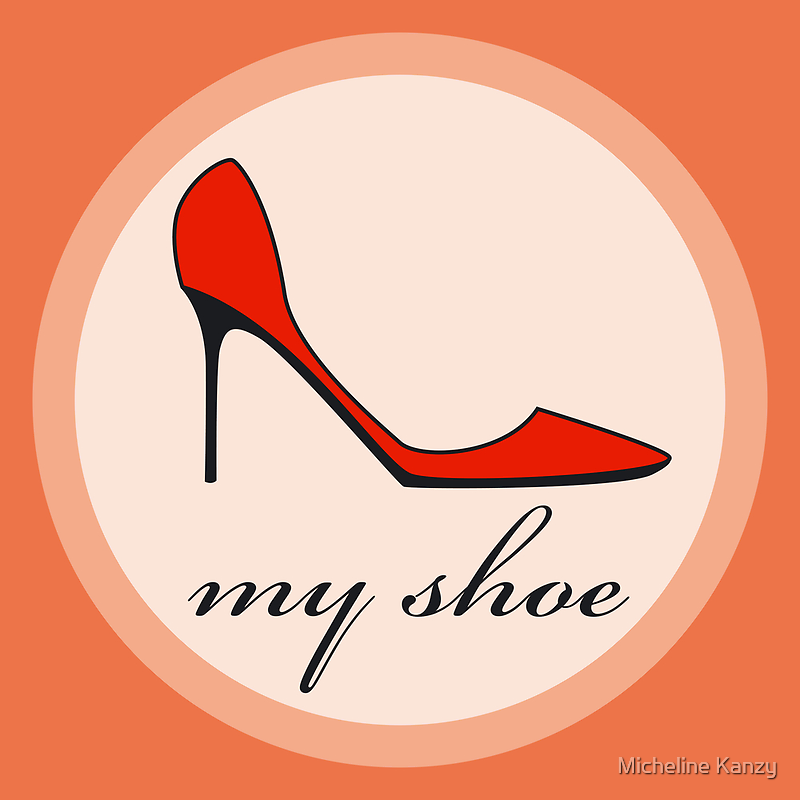 red shoe by Micheline Kanzy