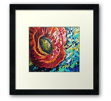 A Poppy Takes Center Stage Framed Print