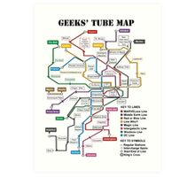 Geeks' Tube Map Art Print