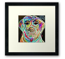 LADY BOXER Framed Print