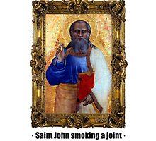 Saint John smoking a joint by ayay