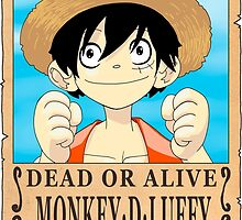 One Piece - Wanted Poster - Monkey D. Luffy by 57MEDIA