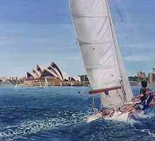 Fair wind on the harbour by Freda Surgenor