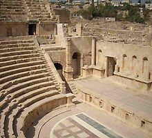 Roman ruins - The Theatre, Jerash, Jordan by Hermann Hanekom