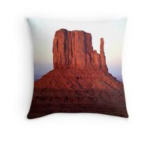 Red Monolith Throw Pillow