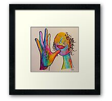 MOTHER - American Sign Language ASL Framed Print