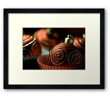 Christmas Bauble Cupcakes Framed Print