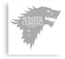 Game Of Thrones - Winter Is Coming Canvas Print