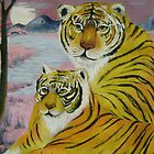 mother and child (tiger) by zhenlian