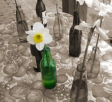 Bottles of Daffodils by AngelPhotozzz